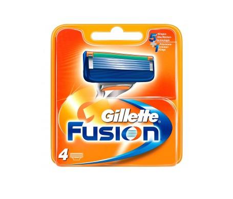 Gillette Fusion Cargador Pack 4u.