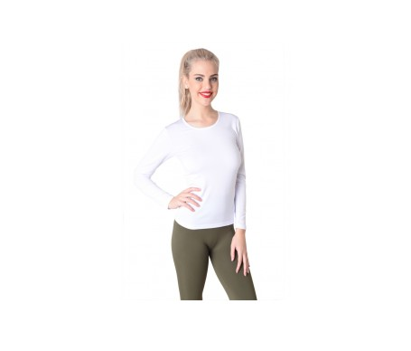 Anaissa Camiseta Termal Color  Blanco XL 2 Uds