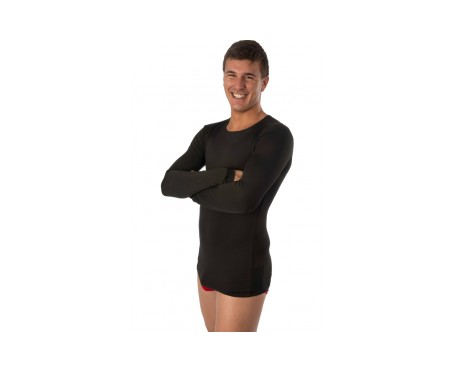 Raff Camiseta  Termal Caballero  Negro 2 Uds M