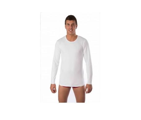 Raff Camiseta  Termal Caballero  Blanco 2 Uds XL