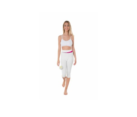 Anaissa Pantalón Capri Pirata Push Up Blanco L