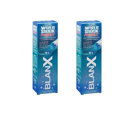 Blanx Pack White Shock Protect + Led 2x50ml