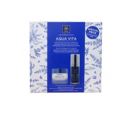 Apivita Pack Apivita Aquavita Crema Normal Seca + Serum