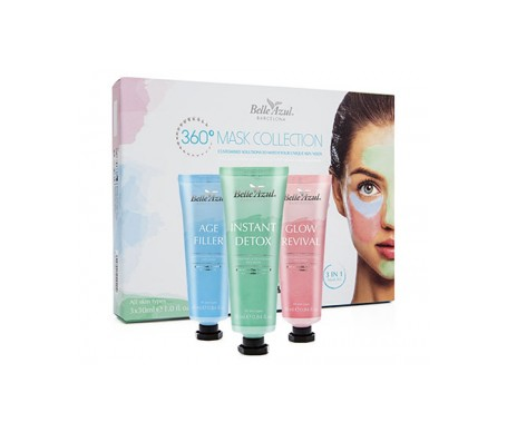 Belle Azul Pack de Mascarillas Faciales 30ml
