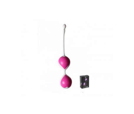 Secret Play Bolas chinas de silicona color fucsia 80g