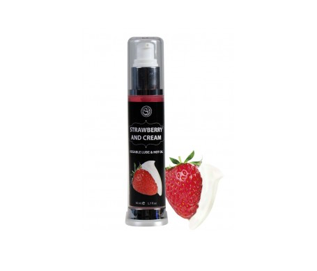 Secret Play Lubricante Efecto Calor Fresas Con Nata 50ml