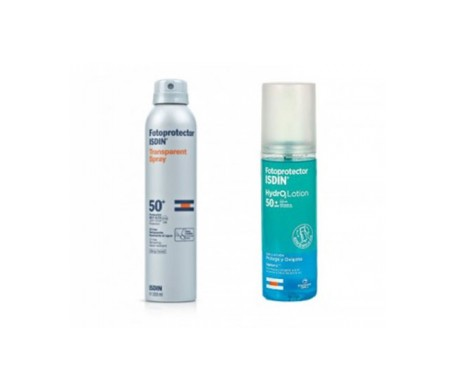 Fotoprotector ISDIN:registered: pack spray transparente SPF50+ + HydrO2Lotion SPF50+