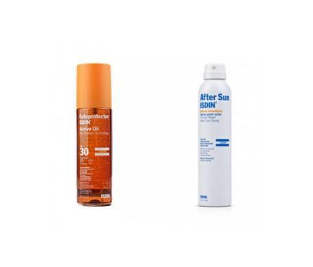 Fotoprotector Isdin® Active Oil Spf30+ + After Sun Spray Efecto inmediato