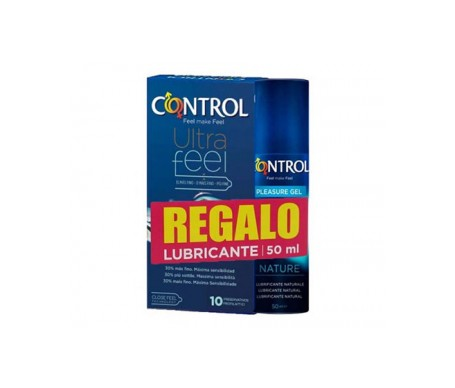 Control Pack UltraFeel 10uds + Gel lubricante Nature 50ml
