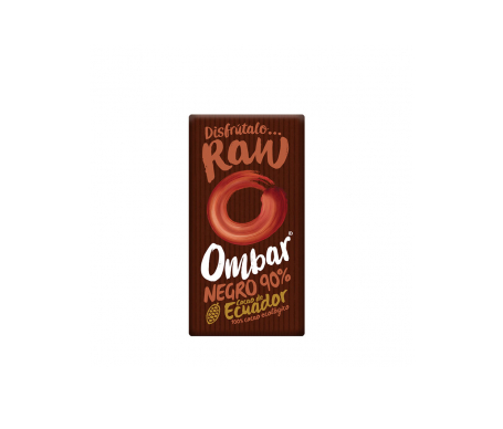 Ombar chocolate negro 90% crudo 35g
