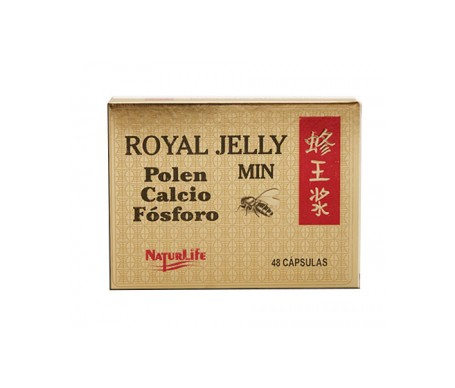 Royal Jelly Min Polen Calcio Fósforo 48 Cápsulas