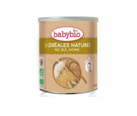 Babybio  Preparado Ecológico 3 Cereales Natural 250g