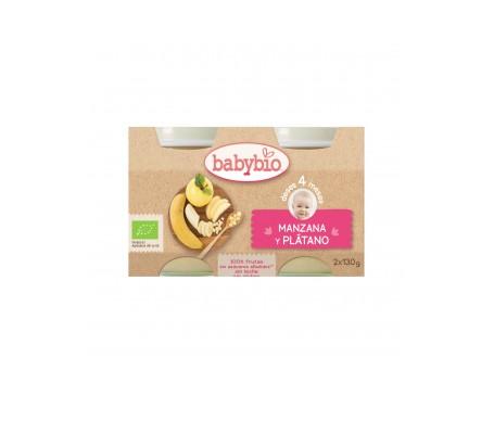 Babybio  Tarrito Ecológico De Manzana Y Plátano 2x130g