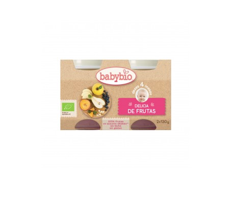 Babybio  Tarrito Ecológico Delicia De Frutas 2x130g