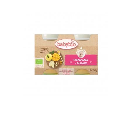 Babybio  Tarrito Ecológico De Manzana Y Mango 2x130g