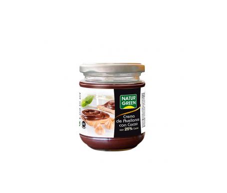 Naturgreen Crema Ecológica De Avellanas Y 25% Cacao 200g