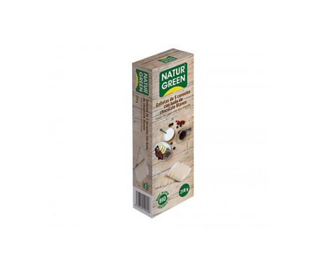 Naturgreen Galleta Ecológica 5 Cereales Baño Chocolate Blanco 210g