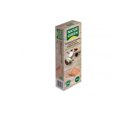 Naturgreen Galleta Ecológica 5 Cereales Fondo Chocolate Blanco 190g