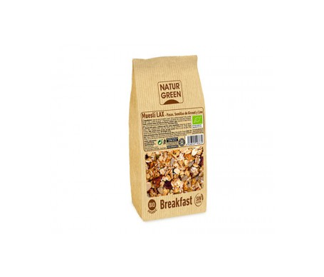 Naturgreen Muesli Lax (Copos De Avena, Semillas De Girasol, Lino y Pasas) Sin Gluten Bio 350g