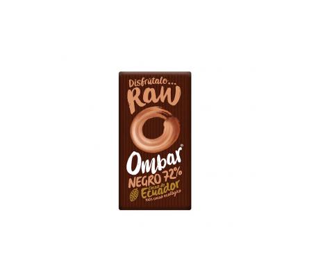 Ombar  Tableta Ecológica De Chocolate Negro 72% Crudo 35g