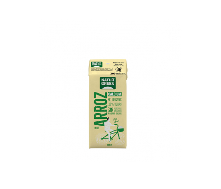 Naturgreen Bebida Ecológica De Arroz Con Calcio 200 Ml