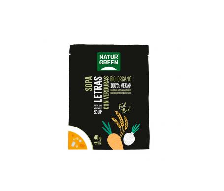 Naturgreen Sopa Ecológica De Letras Con Verduras 40 G