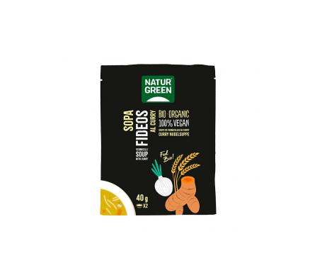 Naturgreen Sopa Ecológica De Fideos Al Curry 40 G