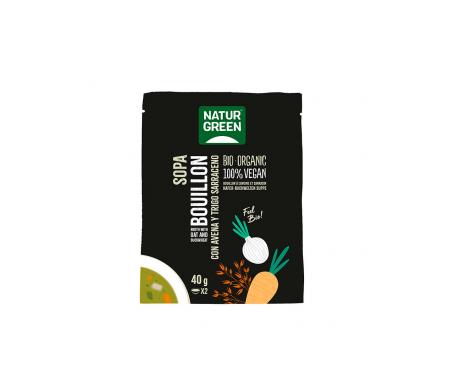 Naturgreen Sopa Ecológica Bouillon Con Avena Y Trigo 40 G