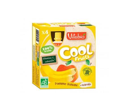 VitaBioCaja con 4 Bolsitas de Fruta Ecológica con Manzana y Plátano Cool Fruits 4x90 g