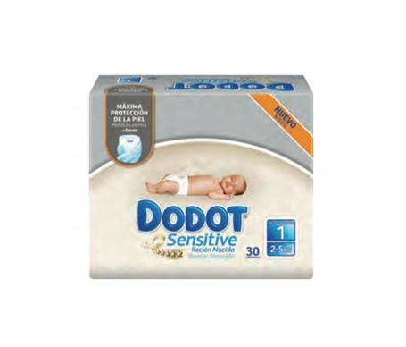 Dodot Sensitive Pañal Recién Nacido T1, 2-5kg 30 Uds