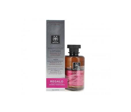 Apivita perdita dei capelli lozione pack 150ml + shampoo tonificante per le donne 250ml gratis