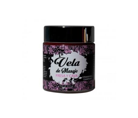 Secret Play Vela De Masaje Aroma Fresas Con Cava 75ml