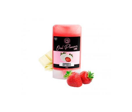 Secret Play Lubricante Comestible Chocolate Blanco Con Fresas 50ml