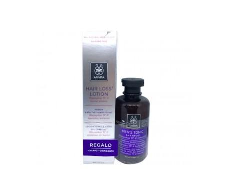 Apivita Men's Hair Loss Lotion 150ml + Shampoo Tonificante per la perdita dei capelli degli uomini 250ml