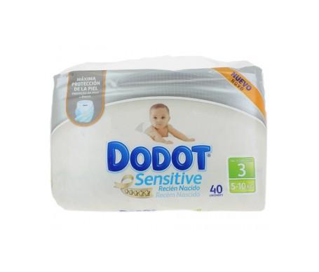 Dodot Sensitive Recién Nacido T-3 5-10kg 40 unidades