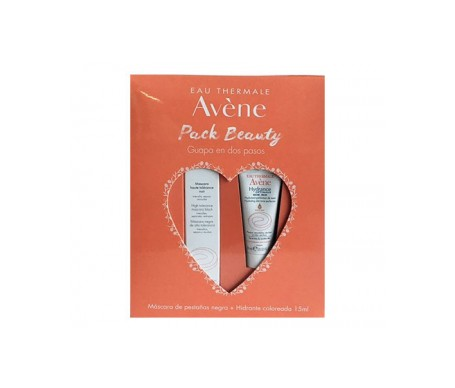 Avene Pack Beauty Máscara Pestañas Negra + Hidratante Coloreada
