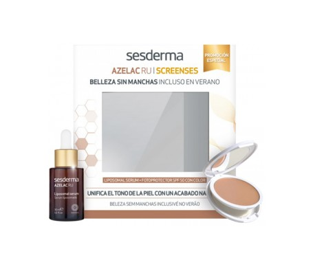Sesderma Pack Azelac Ru serum 30ml + Screenses photoprotective SPF50+ with colour 10g