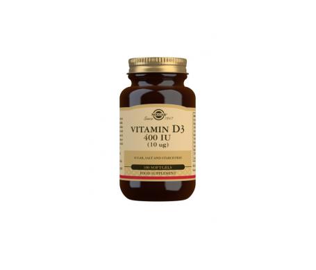 Solgar Vitamina D3 400ui 100cáps D3 400ui 100cáps