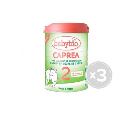 BabyBio caprea leche de cabra ecológica  2  3x900g