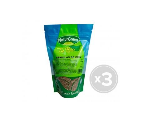 Naturgreen semillas de chía ecológicas 3 und X 250g