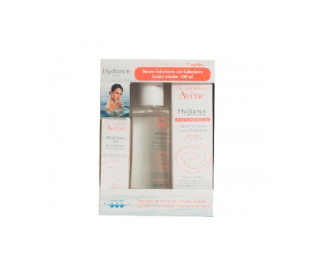 Avène Hydrance Optimale enriched + hydrating serum + micellar lotion