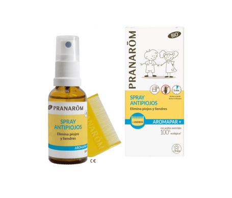 Pranarôm Spray Antipiojos Bio 30ml + Lendrera