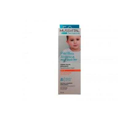 Mussvital Crema Facial Emoliente Piel Atópica SPF20 75ml