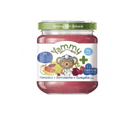 Yammy Farmacia Potito Eco - Manzana Remolacha Guayaba Rosa+Omega3 195gr