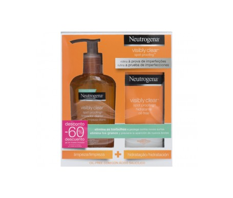 Neutrogena Pack Visibly Clear™ Daily hydrating + cleansing