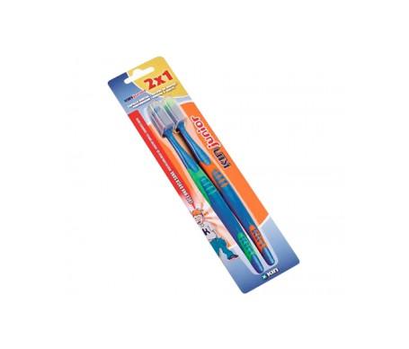 Fluor-Kin Junior cepillo dental infantil 2uds