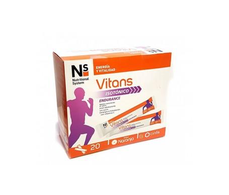 Ns Vitans Isotónico Sabor Naranja 20 Sobres