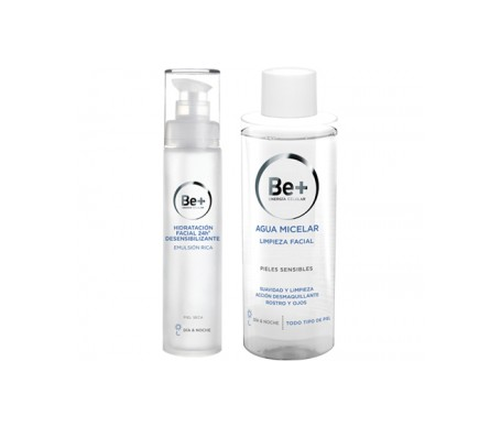Be+ Pack Rich Emulsione Pelle Secca 50ml + Acqua Micellare 200ml