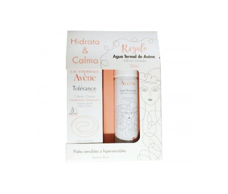 Avene Pack Tolerance Crema Rica 50ml + Eau Thermale 50ml