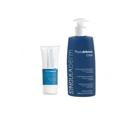Singuladerm SPF20 50ml + Physiodefense Corps 200ml + Gift Toilet Bag
